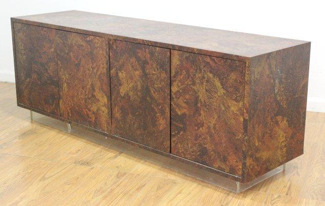 :Thayer Coggin Textured Veneered Side Cabinet - 2