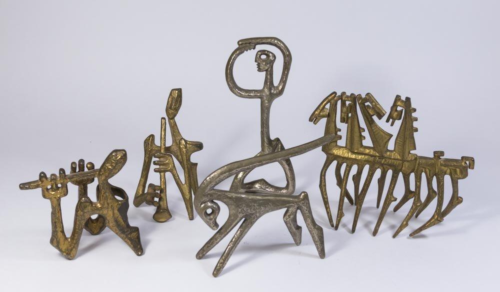 Lot of 5 Marino Marini Style Bronze Figures