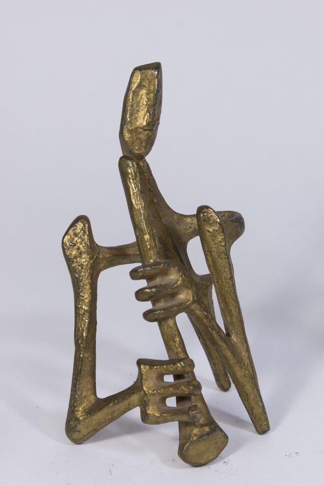 Lot of 5 Marino Marini Style Bronze Figures - 4