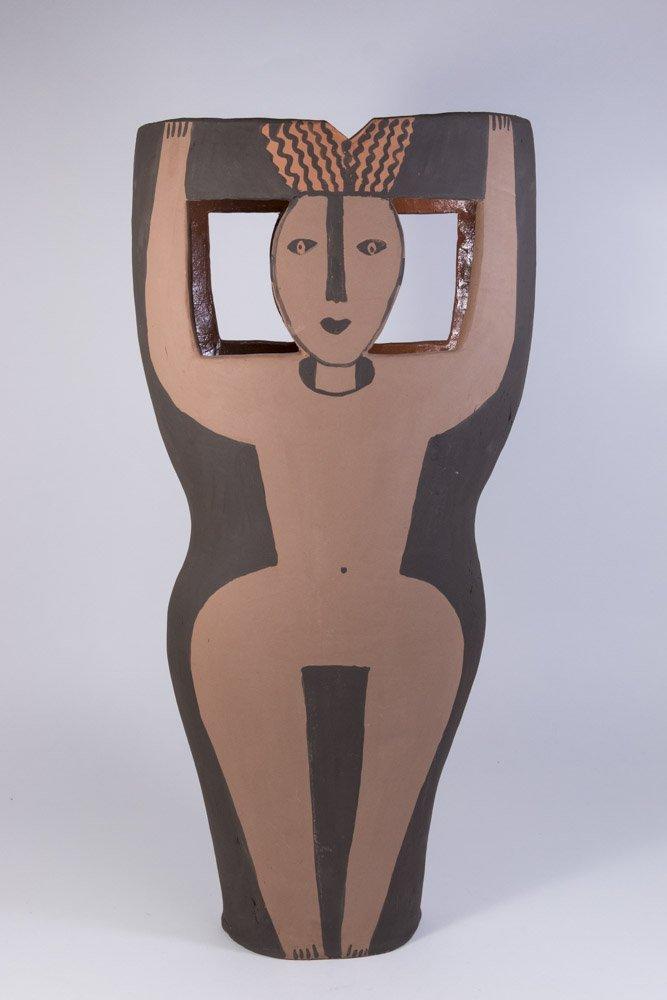 Picasso Style Ceramic Vase