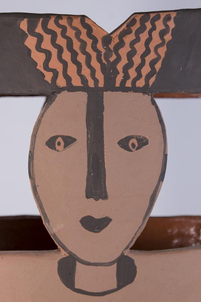Picasso Style Ceramic Vase - 2