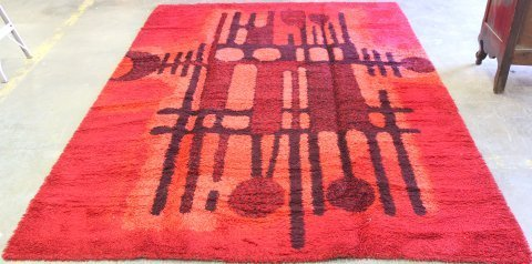 Mid Century Modern Wool Carpet Attrib. to Ege Rya