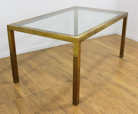 70s Brass Dining Table