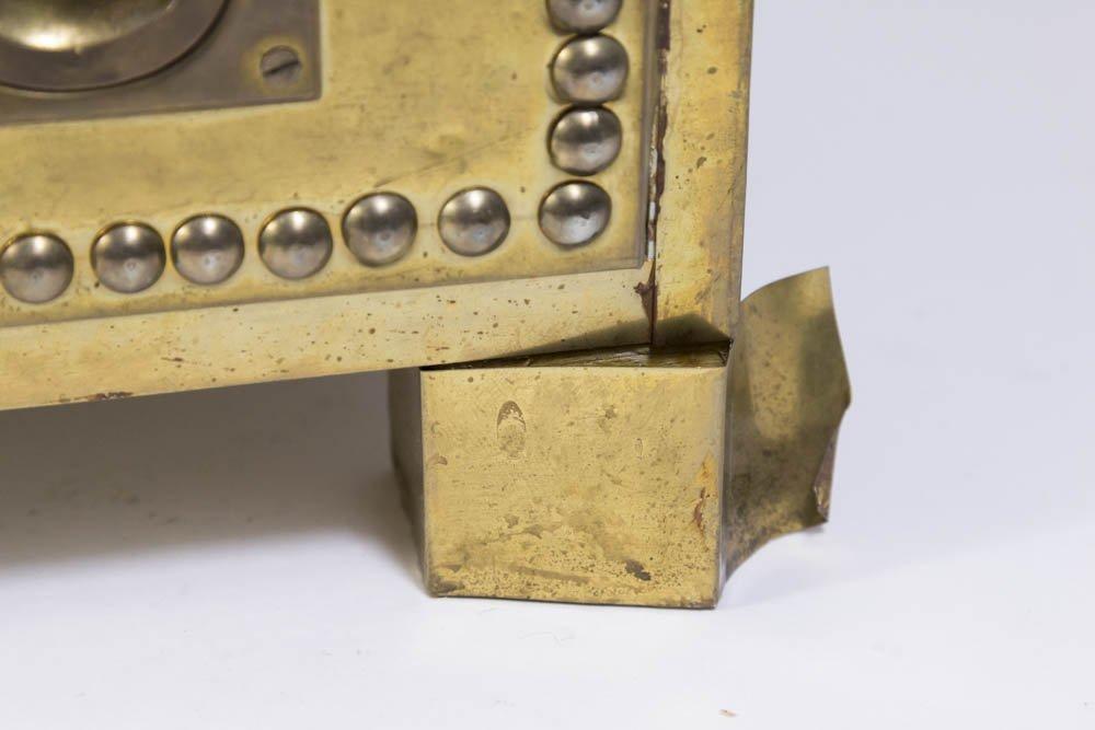70s Brass Veneered Jewelry Chest - 4