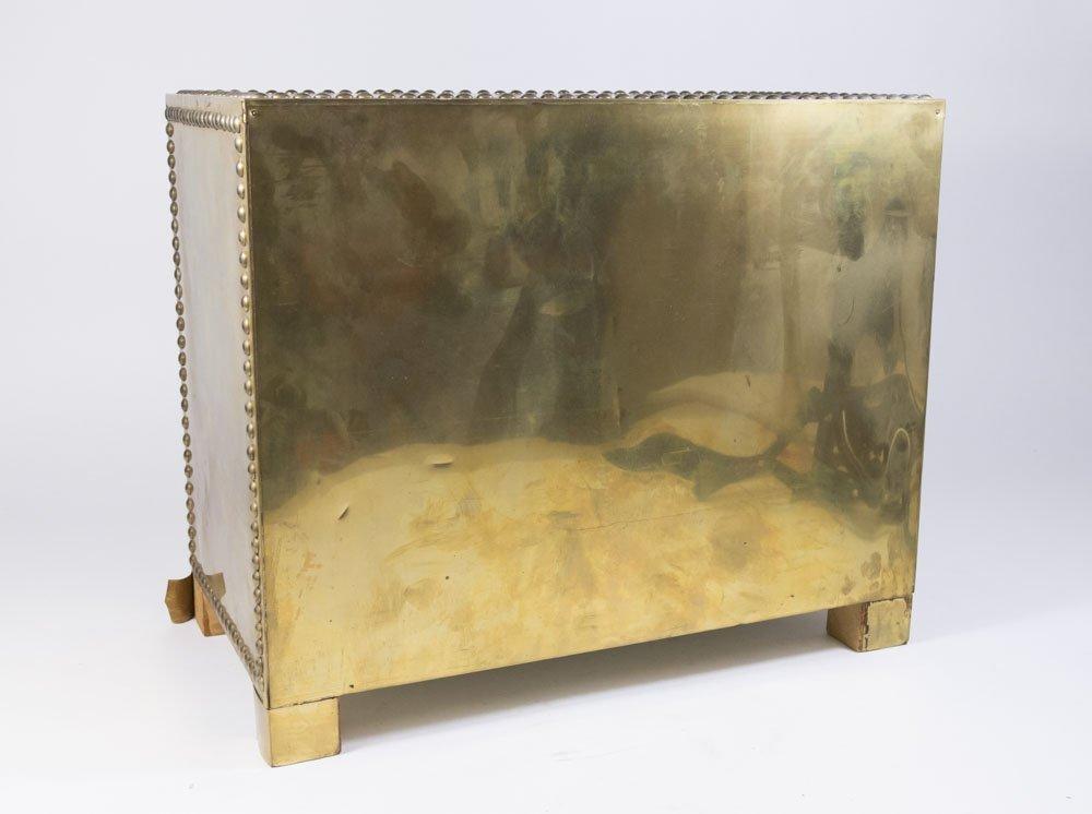70s Brass Veneered Jewelry Chest - 5