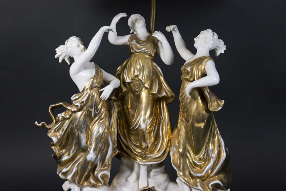 Porcelain Grouping of 3 Graces - 2