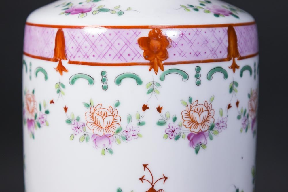 Asian Style Porcelain Lamp - 2