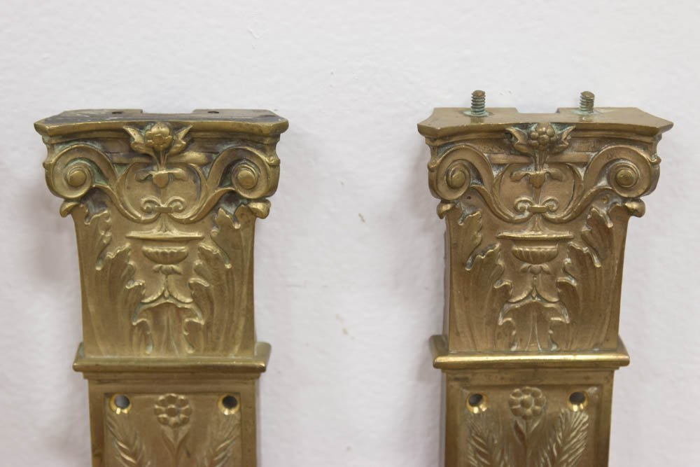 4 Gilt Bronze Pilaster Wall Mounts - 2