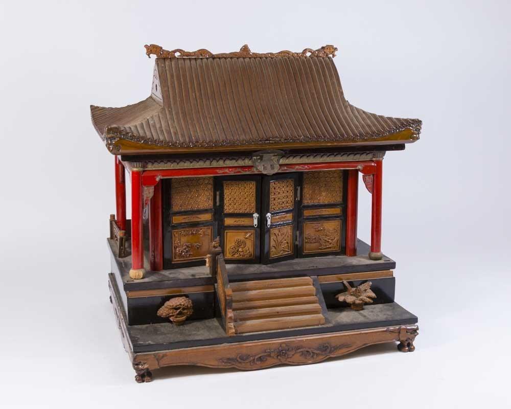 Asian Pagoda-Shaped Jewelry Box