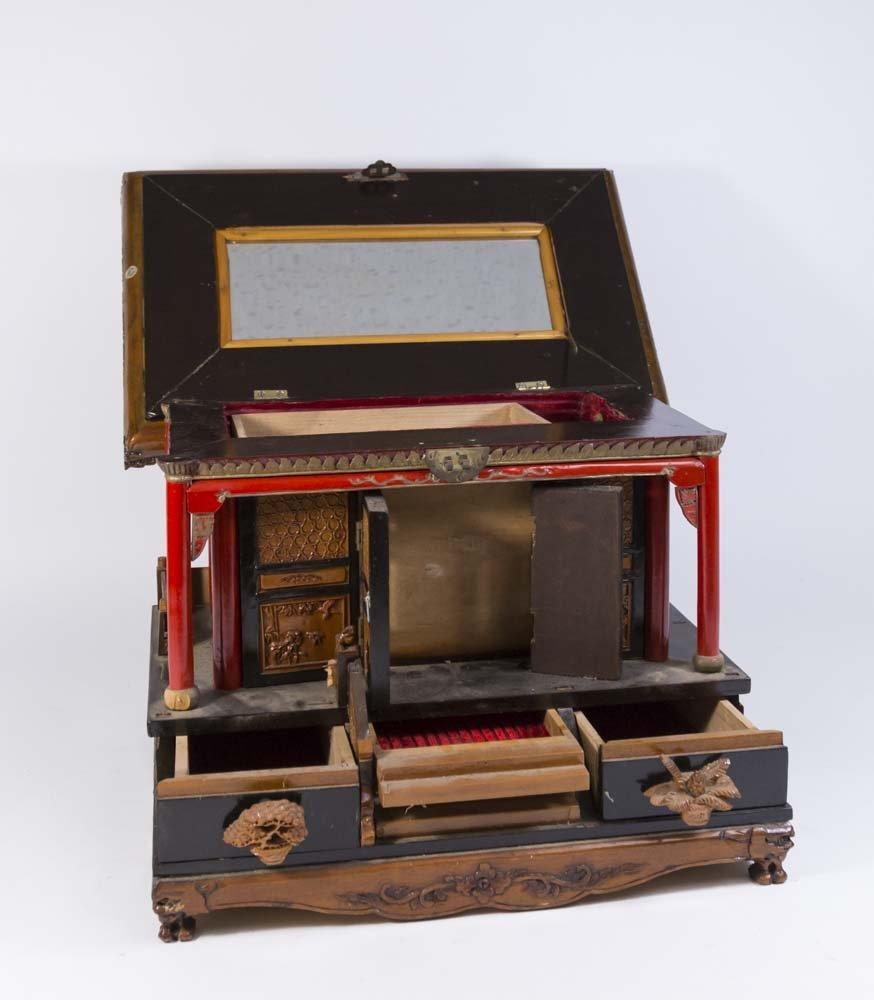 Asian Pagoda-Shaped Jewelry Box - 4