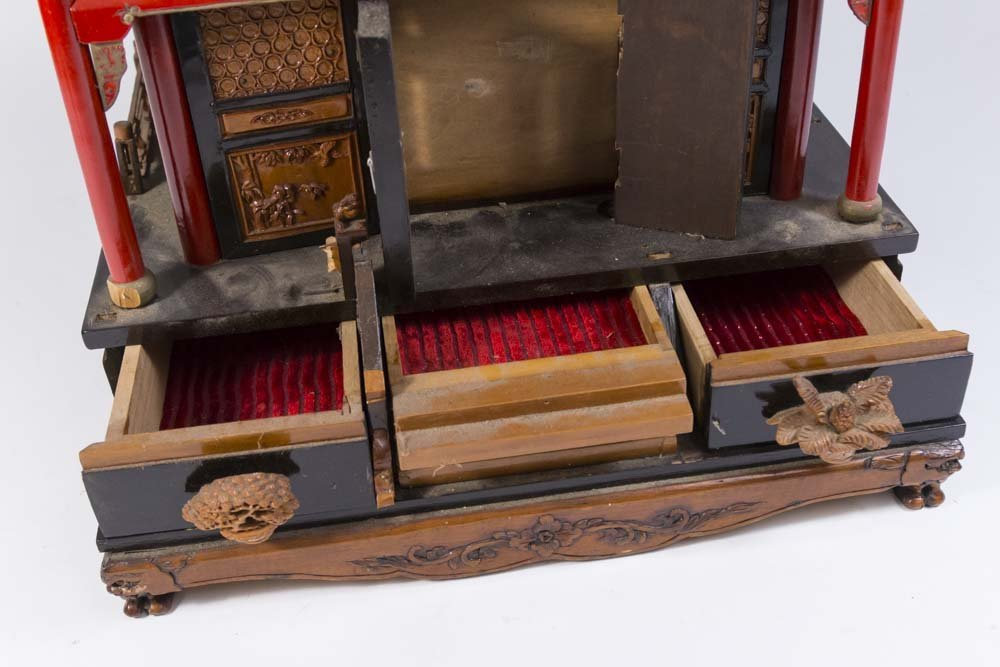 Asian Pagoda-Shaped Jewelry Box - 5
