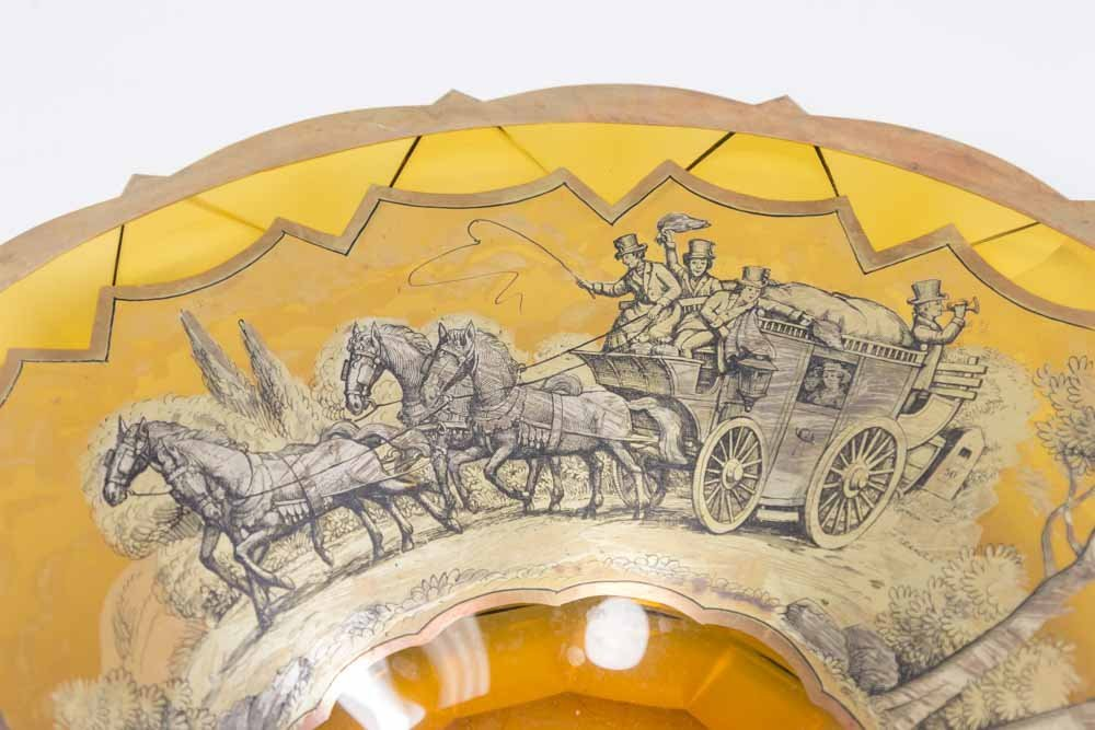 Moser Bowl with Stagecoach Design - 2