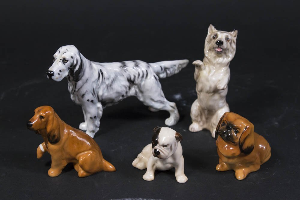 5 Royal Doulton Dog Figurines