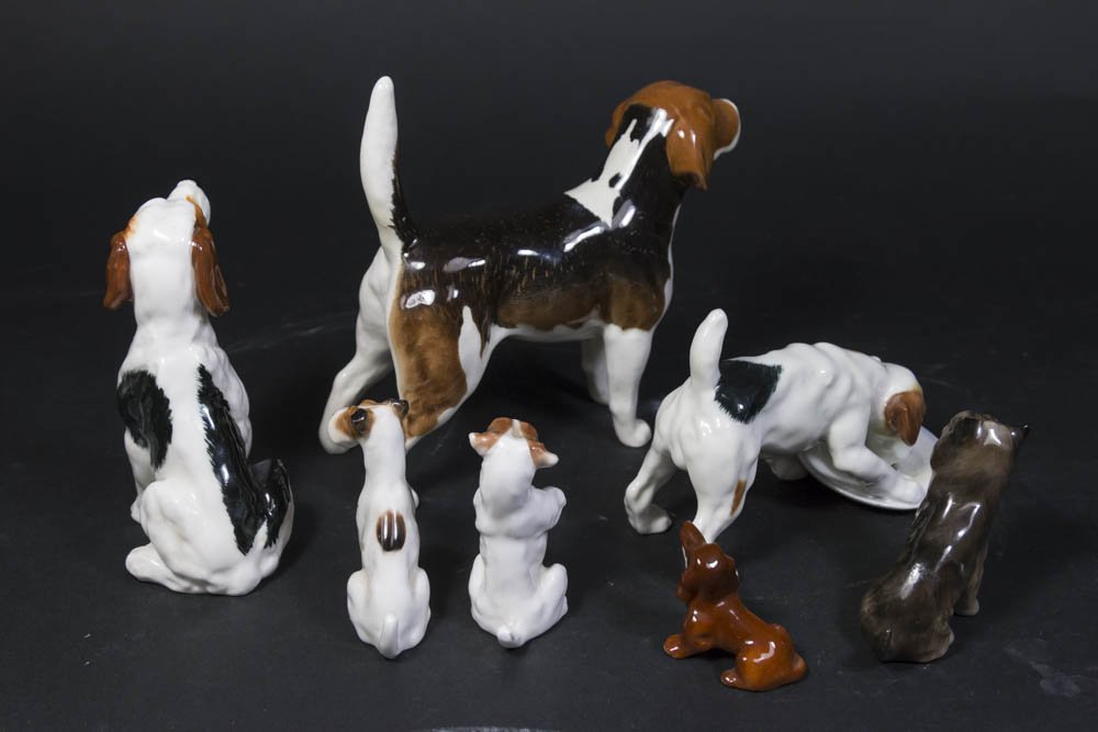 7 Porcelain Dog Figurines - 2