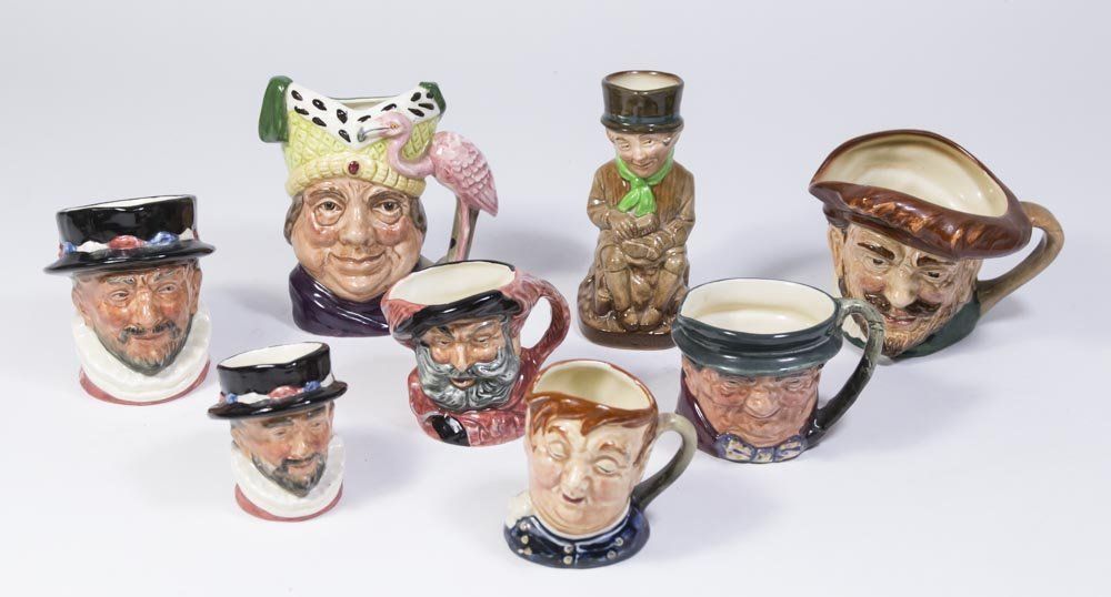 8 Various Royal Doulton Mugs