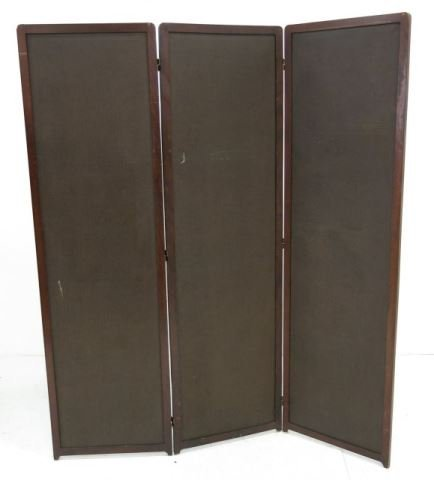 :Arts & Crafts 3-Section Leather Screen - 3
