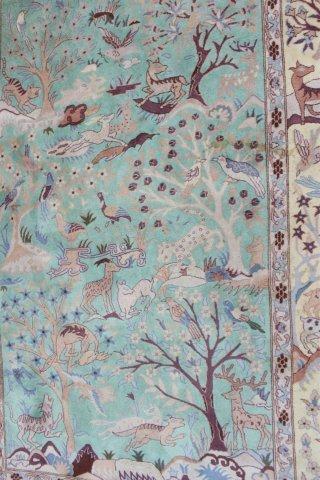 Handmade Persian Tabriz Wool Rug/Carpet - 2