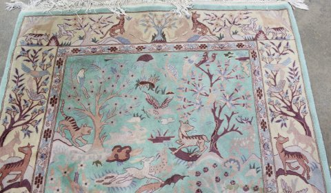 Handmade Persian Tabriz Wool Rug/Carpet - 4