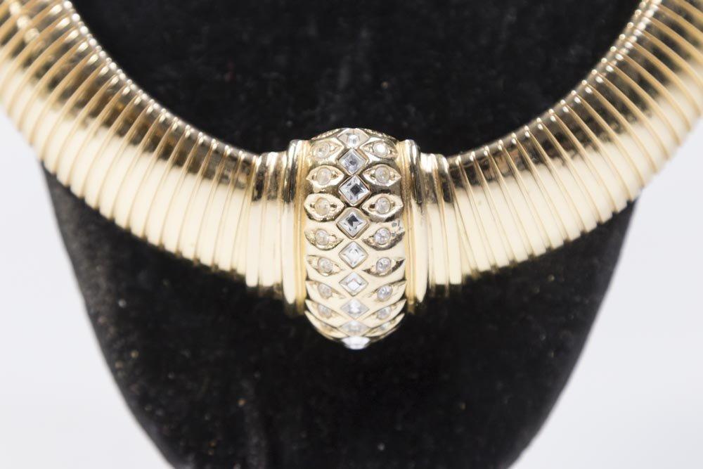 Christian Dior Gold Tone Omega Chain Choker - 2