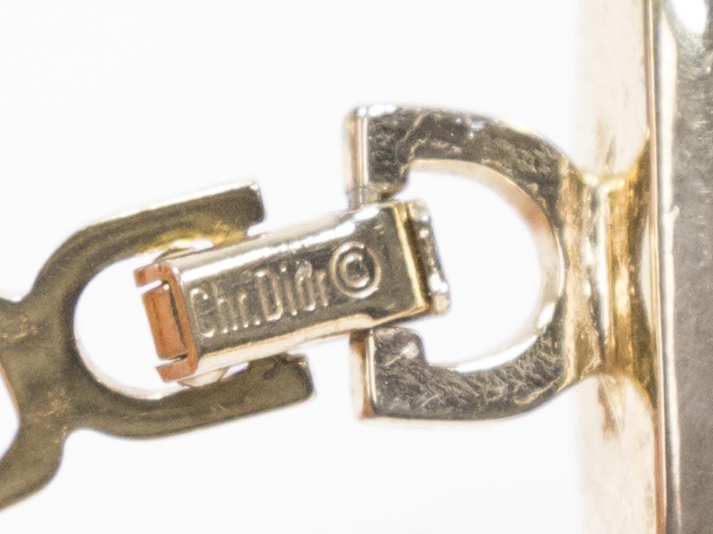 Christian Dior Gold Tone Omega Chain Choker - 4