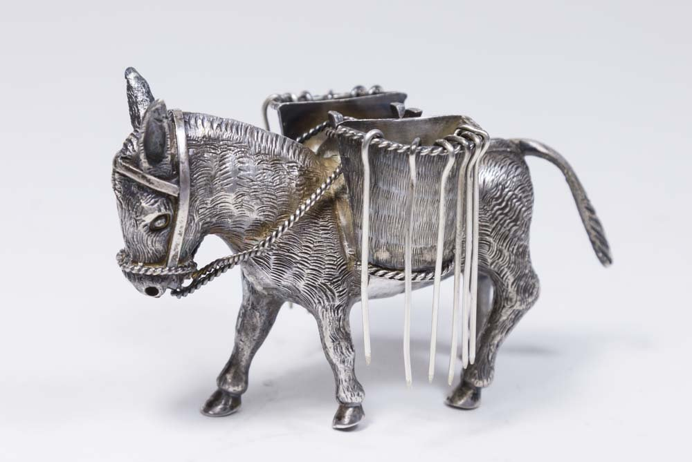 Sterling Silver Mexican Donkey Pick Holder
