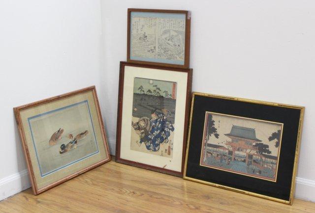 4 Japanese Prints/Woodblock