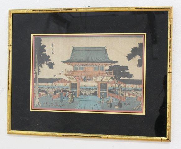 4 Japanese Prints/Woodblock - 3