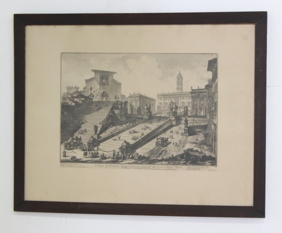 Piranesi Etching of Rome