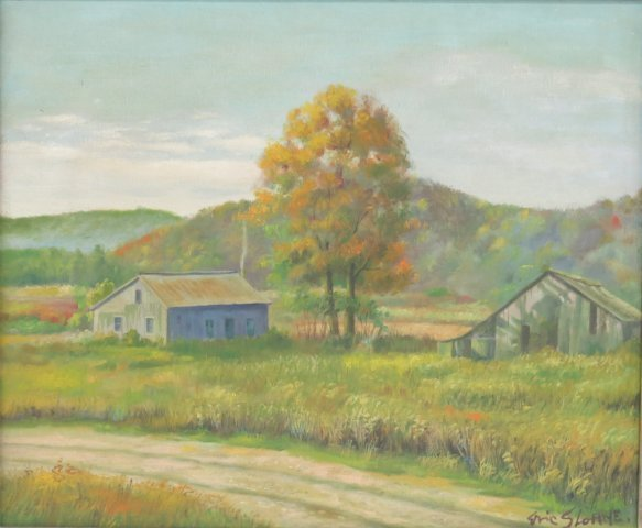 ":After Eric Sloane, ""Rural Landscape"""