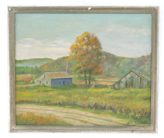 ":After Eric Sloane, ""Rural Landscape"" - 2"