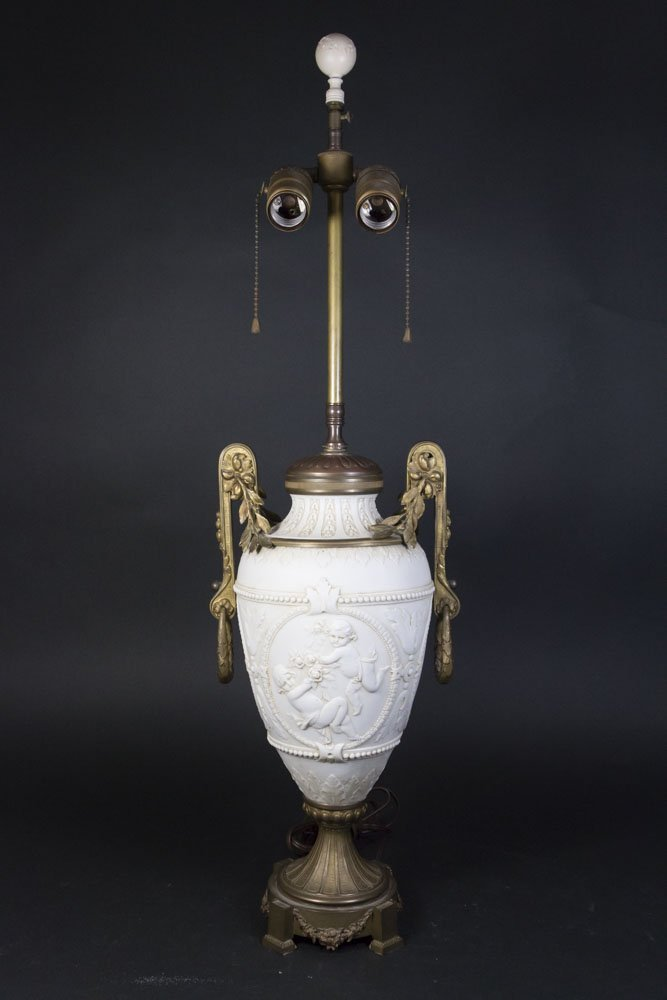 Bronze Mounted Parian Lamp
