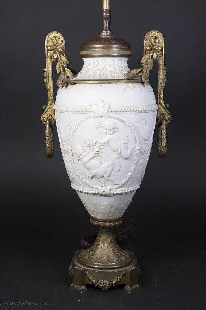 Bronze Mounted Parian Lamp - 2