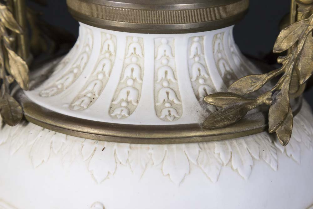 Bronze Mounted Parian Lamp - 5