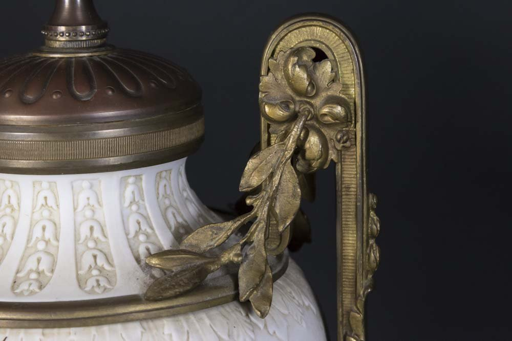 Bronze Mounted Parian Lamp - 6