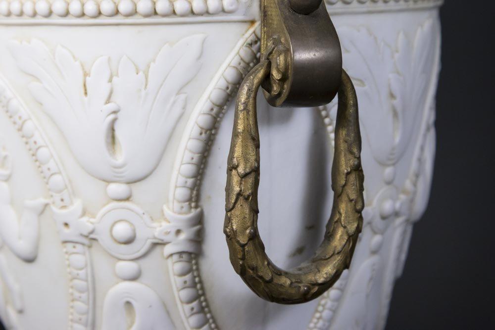 Bronze Mounted Parian Lamp - 7