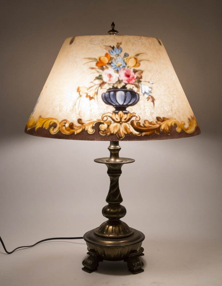 Reverse-Painted Pairpoint Lamp