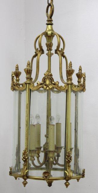 Brass Lantern with 5 Lights