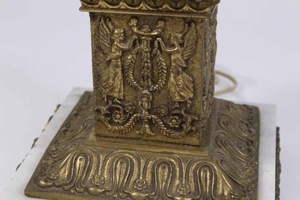 Bronze & Marble Figural 6-Light Candelabra - 3