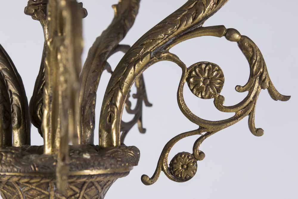 Bronze & Marble Figural 6-Light Candelabra - 4