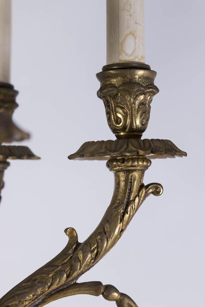Bronze & Marble Figural 6-Light Candelabra - 5