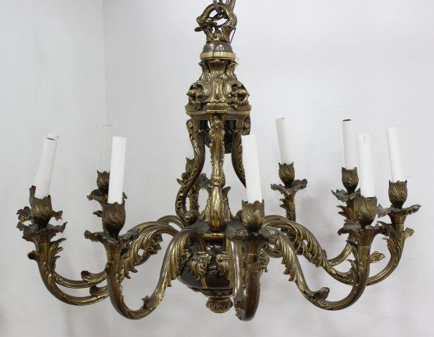 Bronze 10-Light Chandelier