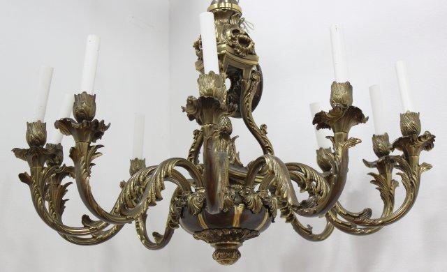 Bronze 10-Light Chandelier - 2