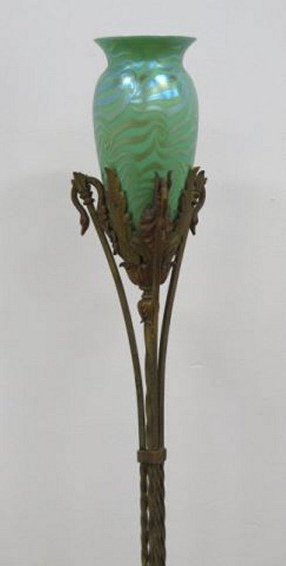 :Durand Art Glass Torchière - 3