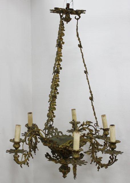 Bronze 6-Light Chandelier