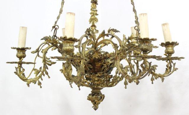 Bronze 6-Light Chandelier - 2