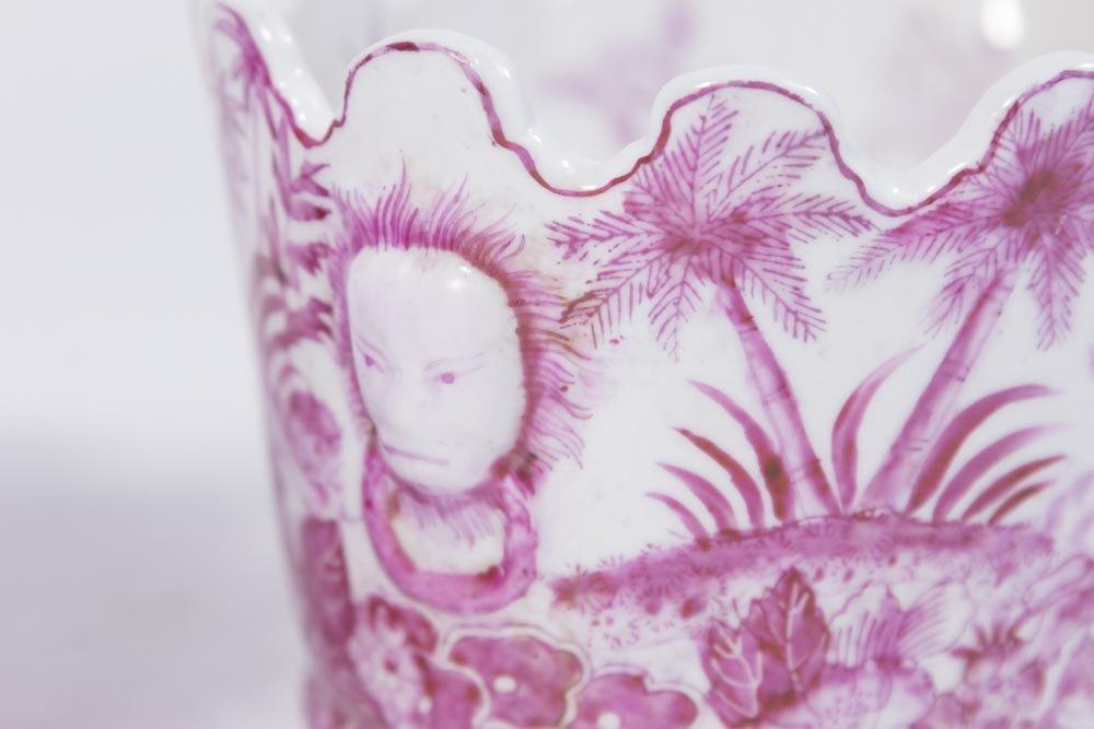 Pair Chinese Poupre de Cassius Colored Cache Pots - 3