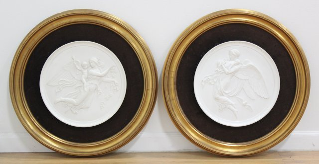 Pair Royal Copenhagen Plaques
