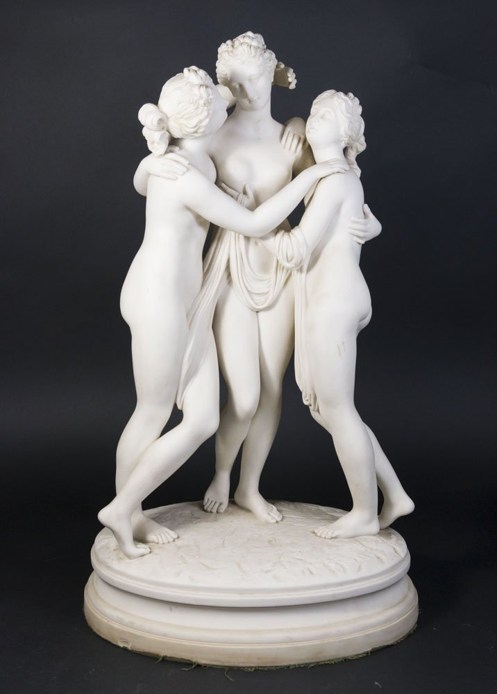 Parian Sculpture of 3 Graces
