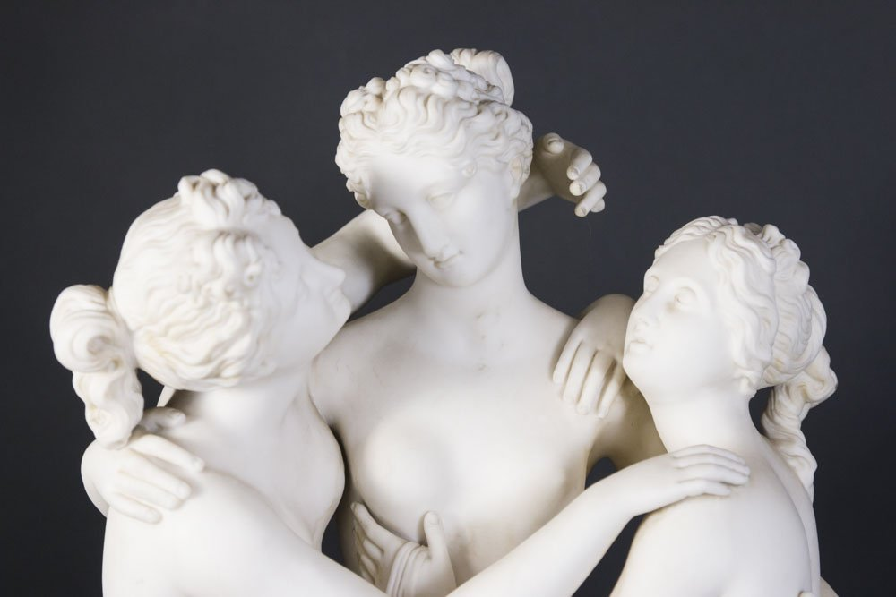 Parian Sculpture of 3 Graces - 2
