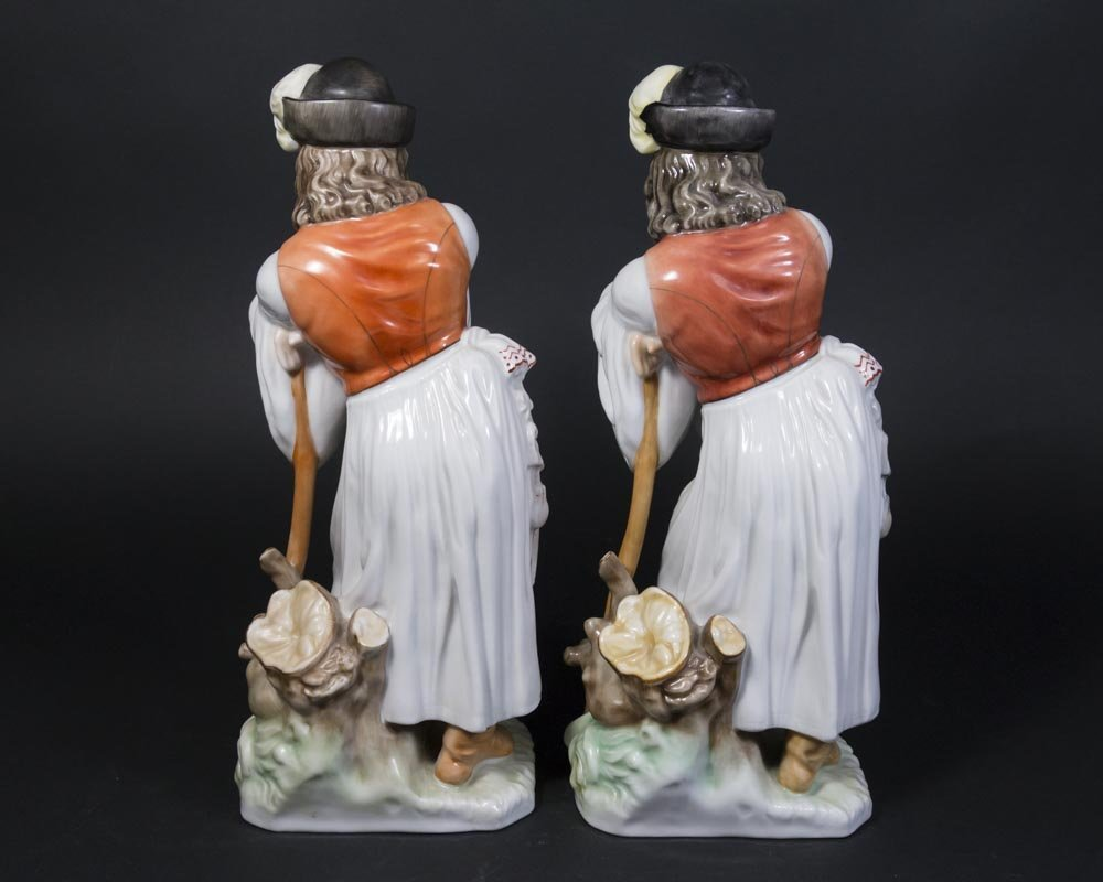 2 Herend Hungarian Shepherd Figurines - 3